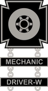 Army Driver and Mechanic Badge Decal | North Bay Listings